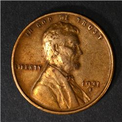 1931-S LINCOLN CENT, XF KEY COIN
