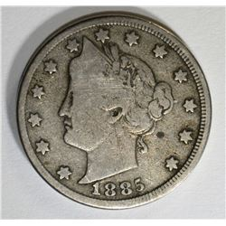 1885 LIBERTY NICKEL, FULL VG  KEY COIN