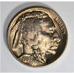 1936-D BUFFALO NICKEL, GEM BU