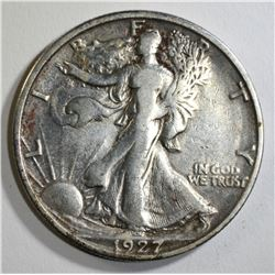 1927-S WALKING LIBERTY HALF DOLLAR, VF/XF