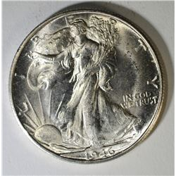 1946-S WALKING LIBERTY HALF DOLLAR, CH BU