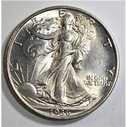 1936 WALKING LIBERTY HALF DOLLAR, CH BU+
