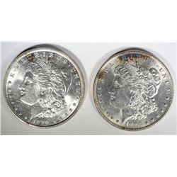1886 & 1890 MORGAN DOLLARS CHOICE BU