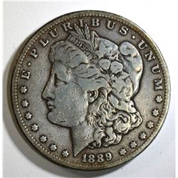 1889-S MORGAN DOLLAR, F/VF