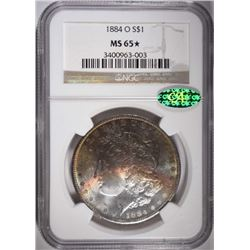 1884-O MORGAN DOLLAR NGC MS 65* CAC