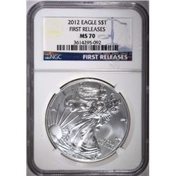 2012 AMERICAN SILVER EAGLE DOLLAR NGC MS 70
