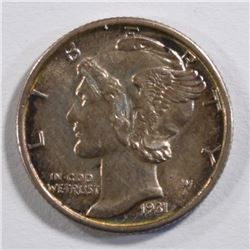 1931-S MERCURY DIME CHOICE BU