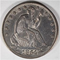 1854-O ARROWS SEATED LIBERTY HALF DOLLAR  UNC