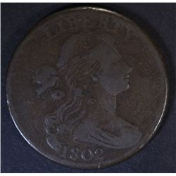1802 DRAPED BUST LARGE CENT  F/VF