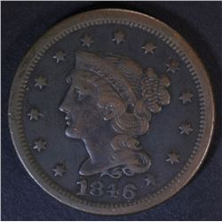 1846 LARGE CENT  VF/XF