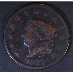 1827 LARGE CENT  VG  KEY DATE
