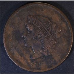 1839 BOOBY HEAD LARGE CENT  VF