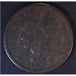 1841 LARGE CENT  F+  BETTER DATE