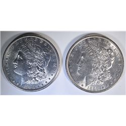 1888 & 1890-S BU MORGAN DOLLARS