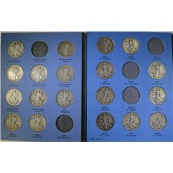 PARTIAL WALKING LIBERTY HALF DOLLAR SET