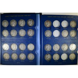 BARBER HALF DOLLAR PARTIAL SET