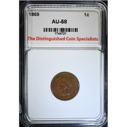 1869 INDIAN CENT, TDCS AU/BU
