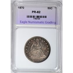 1870 SEATED LIBERTY HALF DOLLAR ENG  PROOF