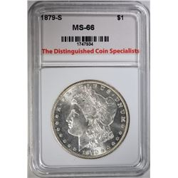 1879-S MORGAN DOLLAR, TDCS SUPERB GEM BU
