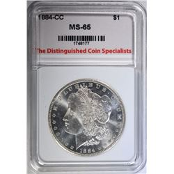 1884-CC MORGAN DOLLAR TDCS GEM BU