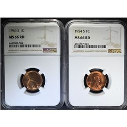1946S, 1954S MS66RD