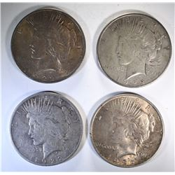 2-1922 & 2-1922-S PEACE SILVER DOLLARS