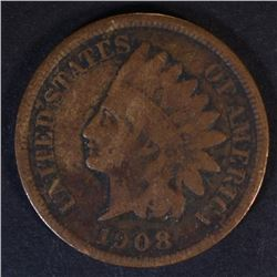 1908-S INDIAN CENT, VG/FINE
