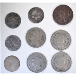 5 3-CENT NICKELS: