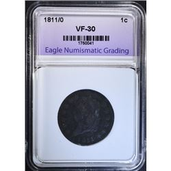 1811/0 LARGE CENT, ENG VF