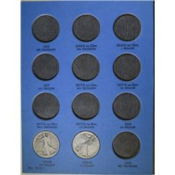 12 - DIFFERENT WALKING LIBERTY HALF DOLLARS