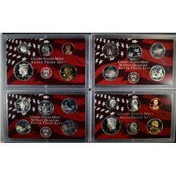 2003 & 2004 U.S. SILVER PROOF SETS  BOX/COA