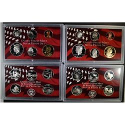 2004 & 2005 U.S. SILVER PROOF SETS  BOX/COA