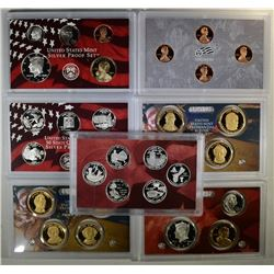 2008 & 2009 U.S. SILVER PROOF SETS  BOX/COA