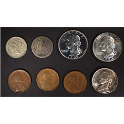 LOT: 1954 & '55 PROOF QTRS, 1856 SEATED