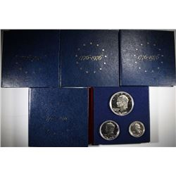 5 - 1976 3pc PROOF SILVER SETS