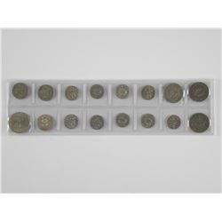 18x World Coins - Includes Silver