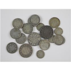 18x Canada Silver Coins (50 cent, 25 cent, 10 cent