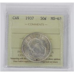 1937 Canada 50 Cent MS-63.