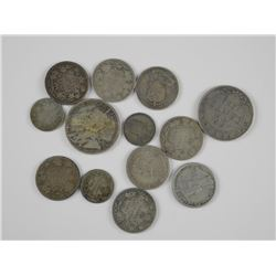 13x Canada Silver Coin (50 cent, 25 cent, 10cent)