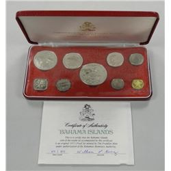 1973 Bahamas Proof Mint coin Set Silver.