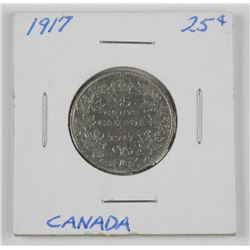 1917 - 25 Cent Canada Coin 'Rotated Die'