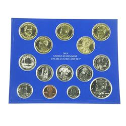 2013 - United States Mint Uncirculated Coin Set 'P