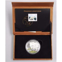 2015 - $20 Baby Goat with Stamp .9999 Fine Silver.