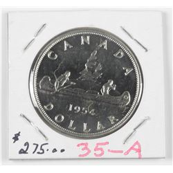 1954 Canada $1.00. MS64. SWL (MIE)