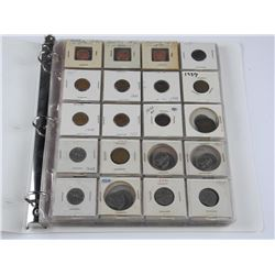 Estate Con Binder with World Coins. Unsearched