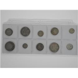 10x NFLD Silver Coins Mixed.