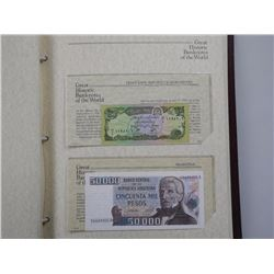Great Historic Banknotes of The World Album.