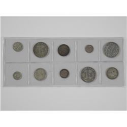 10x Silver NFLD Coins. Mixed