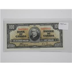 1937 Bank of Canada $100.00 UNC. (GIE)