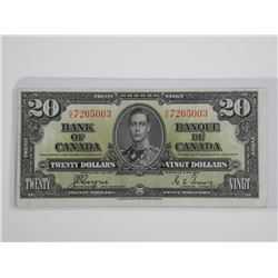 Bank of Canada 1937 $20.00 C/T.
